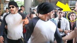 ANGRY Salman Khan INSULTS & Warns Reporters To Stay Away At Airport