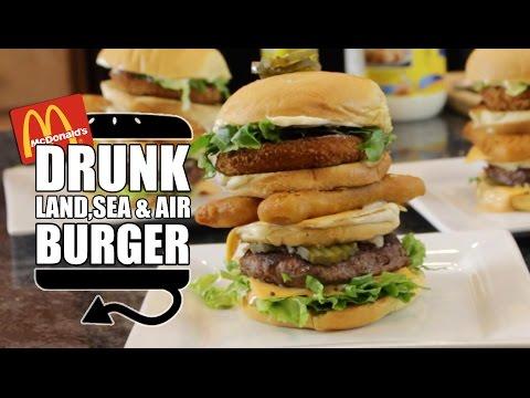 DIY Land Sea & Air Burger DRUNK ALERT