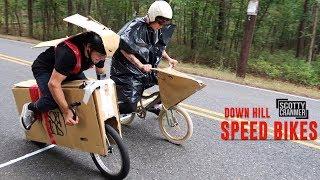 CARDBOARD BIKE DOWNHILL RACE!