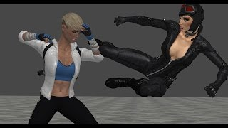Catwoman vs Psylocke & Cassie Cage