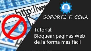 Como bloquear paginas web (Host)