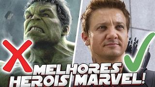 5 MELHORES HEROIS DA MARVEL QUE NAO TEM SUPER PODERES
