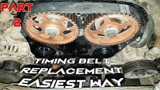 تتغيير سير كاتينه موتور 2 كامه (جزء 2) Timing Belt Replacement for DOHC Engines