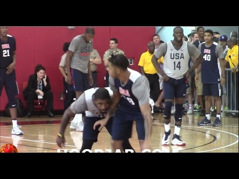 watch Kyrie Irving,Kevin Durant,Carmelo Anthony,Draymon Green USA Basketball Scrimmage Day 3.HoopJab