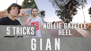 5 tricks - Gianlucca Zanardi - NOLLIE GAZELLE HEEL??