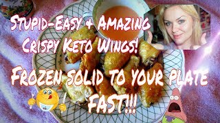 STUPID-EASY KETO CHICKEN WINGS RECIPE! THE BEST QUICK CRISPY WINGS - KETO FRIENDLY AND DELICIOUS