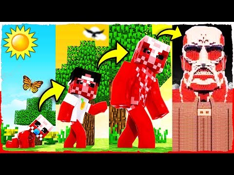 Minecraft If a Colossal TITAN had a REALISTIC Life Span