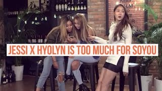 Jessi x Hyolyn giving Soyou a hard time XD [Eng]