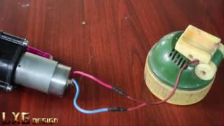 How to make a self at home Powered Hand Crank Flashlight
