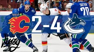 Canucks vs Flames | Highlights | Jan. 6, 2017 [HD]