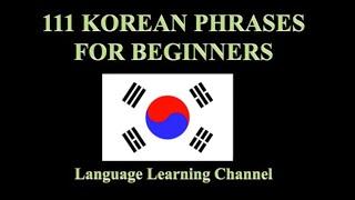 111 Korean Phrases for Beginners