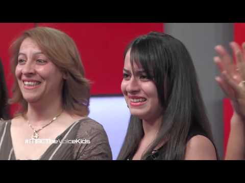 A syrian girl emotional song on The Voice Kids Arabic singing Rimi Bandaly song عطونا الطفولة