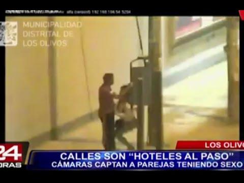 Cámaras de seguridad captan a parejas teniendo sexo en calles de Lima