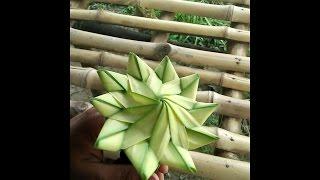 Make beautiful date leaf flower.