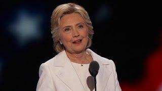 Hillary Clinton thanks Bernie Sanders at DNC