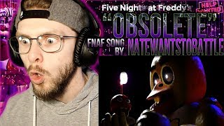 """Vapor Reacts #828 FIVE NIGHTS AT FREDDY'S HELP WANTED SONG """"Obsolete"""" by NateWantsToBattle REACTION"""