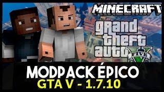 MINECRAFT: Modpack Épico 1# GTA V // Modpack + Mapa + Textura (Pirata/Original)