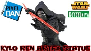 Star Wars Kylo Ren ArtFX Kotobukiya The Force Awakens 1/7 Scale Statue Video Review