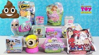 Disney Fashems Num Noms Emoji Movie Shopkins Toy Review Opening | PSToyReviews