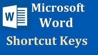 Ms Word Shortcut Keys (L To Z) IN HINDi PART 2