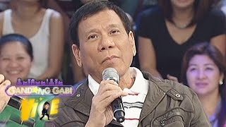 Mayor Duterte talks about his lovelife