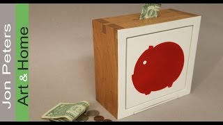 How to Make A Wooden Piggy Bank GREAT GIFT IDEA!