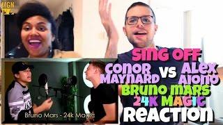 Conor Maynard Vs Alex Aiono Sing Off  24k Magic Bruno Mars Reaction