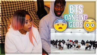 BTS FIRE DANCE PRACTICE - SHE'S IN LOVE !! | REACTION!!!