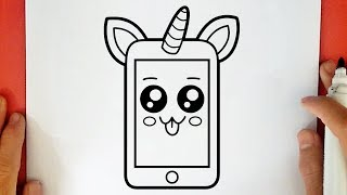 HOW TO DRAW A CUTE UNICORN PHONE