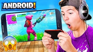 *NEW* FORTNITE Android Mobile Gameplay! (Fortnite: Battle Royale Android)