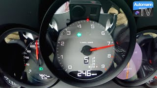 Porsche 991 Carrera S (400hp) - 0-250 km/h acceleration (60FPS)