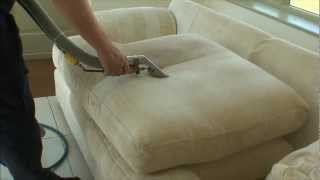 Sofa cleaning using steam