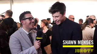 Shawn Mendes on The 2016 JUNO Awards Red Carpet