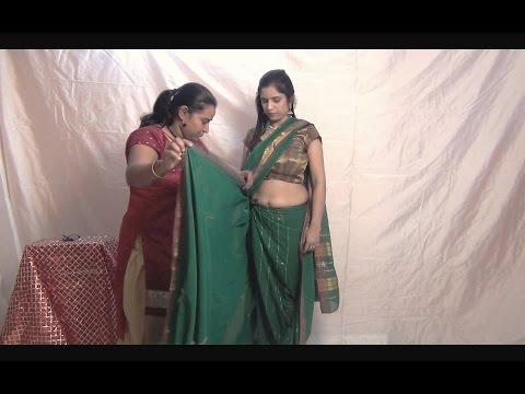 Nauvari saree draping | Maharashtrian Nauvari saree | Draping a Traditional Maharashtrian Sari