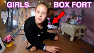 GIRLS ROOM BOX FORT CHALLENGE!! BOX ROOM TOUR!! Ruby Rube