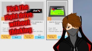Let's Play PC Building Simulator EP173 Pick the right drive without thinking