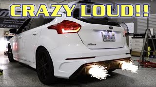 Brutally Loud Straight Piped Focus RS! ETS Catback and Catless Downpipe