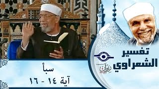 الشيخ الشعراوي | تفسير سورة سبأ، (آية ١٤-١٦)