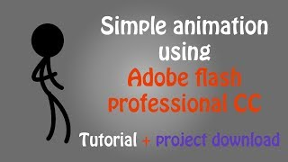 Adobe Flash CC Simple Animation tutorial (Including sound and exporting to mp4)