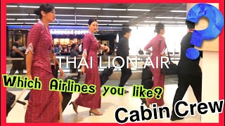 Which airlines do you like | cabincrew | AirAsia - NokAir - LionAir | มาดูกันว่าแอร์สายการบินไหนสวย
