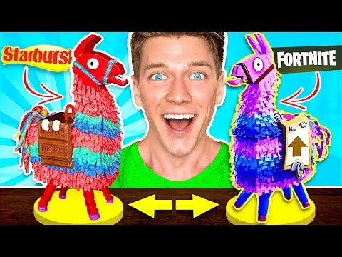 FORTNITE CANDY CHALLENGE Learn How To Make DIY Edible Fortnite Food You Can Eat In Real Life