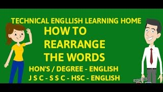 Rearrange the sentence - How to make sentence with words