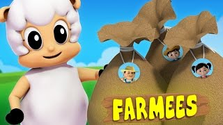 Baa Baa Black Sheep | Nursery Rhymes With Farmees | Baby Song | Children Rhymes