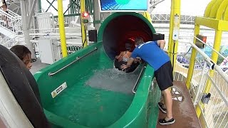 Strange Slideboarding Water Slide at World Waterpark