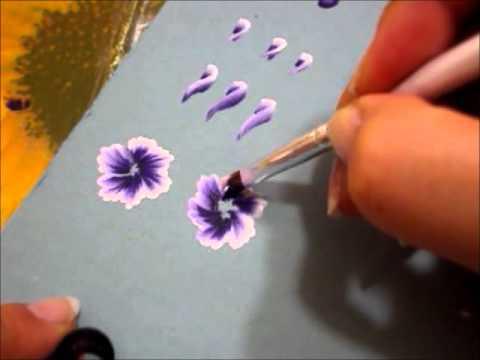 Tecnica One stroke Pennelli Sfumature Rose 2 Parte
