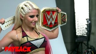 Alexa Bliss' first photo shoot as Raw Women's Champion: Exclusive, April 30, 2017