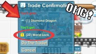 GrowTopia | Selling Diamond Dragon for CHEAP [PRANK !]