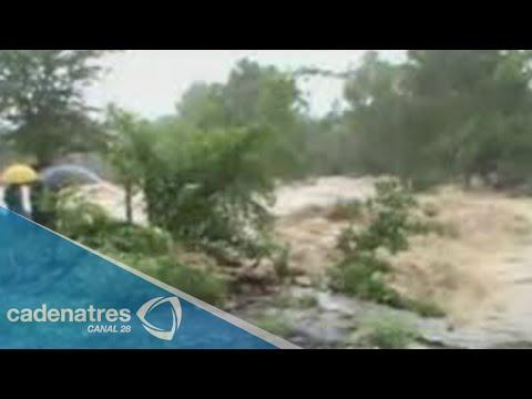 Se desborda río en San Felipe Orizatlán Hidalgo