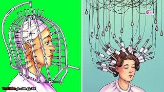 10 إختراعات تجميل غريبة من الماضي - لن تصدق ان النــســاء كانوا يستخدمونها  !