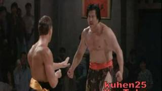 Van Damme Vs Chinese giant (Mortal Kombat move)